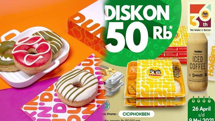 PROMO Makanan Hari Ini 27 April 2021, Promo Terbaru KFC Dunkin Donuts HokBen Jco McD dan Pizza Hut