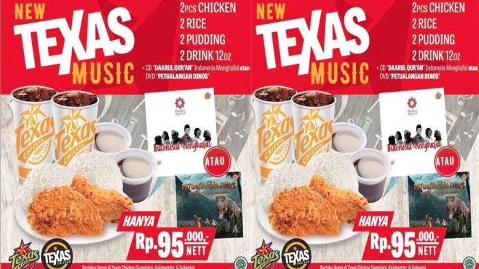 PROMO Texas Chicken Terbaru Hari Ini 29 Juni 2021, Buruan Nikmati Combo Spesial Cuma Rp 95 Ribu