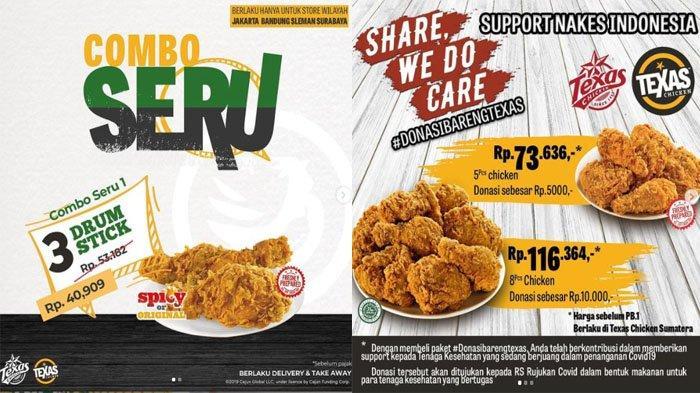 PROMO Texas Chicken Terbaru Juli 2021 Nikmati Combo Seru Mulai 40 Ribuan, Yuk Donasi Bareng Texas