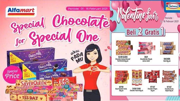 PROMO VALENTINE Indomaret dan Alfamart, Tawarkan Promo Cokelat Beli 1 Gratis 1 & Beli 2 Gratis 1