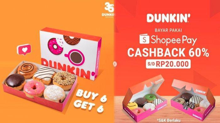 PROMODunkin' Donuts Hari Ini 28 Mei 2020 Beli 6 Gratis 6 Donut Buruan, Syarat & Ketentuan Berlaku!