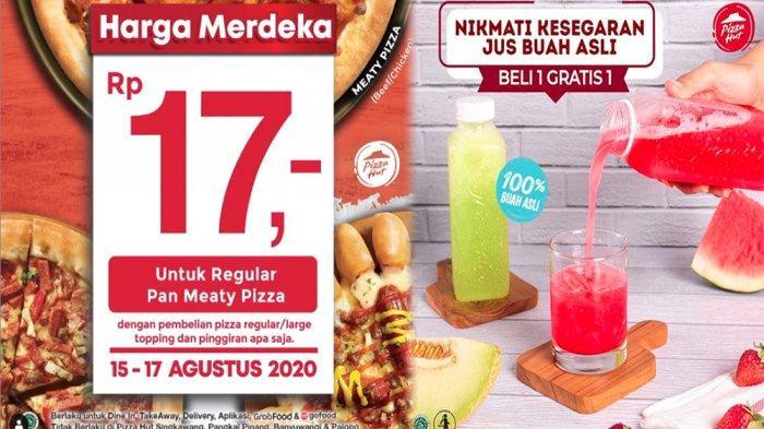PROMOPizza Hut Agustus 2020, Regular Pan Meaty Pizza Rp 17 hingga Beli 1 Gratis 1 Minuman Segar!