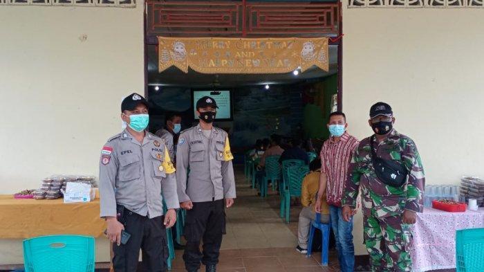 Sinergi TNI-Polri  Pam Ibadah Keagamaan Kunker Bupati Murung Raya di Gereja GBI Monterado