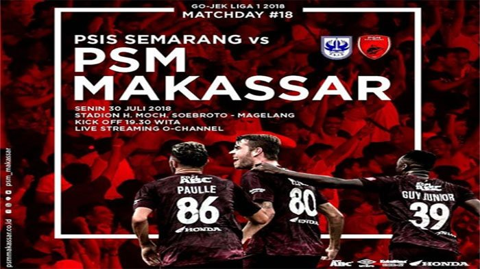 Live Streaming PSIS Vs PSM Makassar! Pekan ke-18 Liga 1 Indonesia Pukul 18.30 WIB