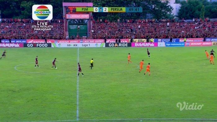 LIVE STREAMING PSM Makassar Vs Persija Jakarta, Persija Unggul Sementara 0-2