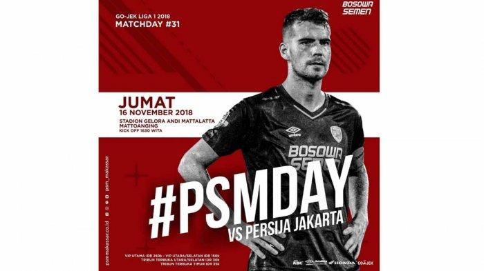 LIVE STREAMING PSM Makassar Vs Persija Jakarta (Live Indosiar): Prediksi Line Up dan Skor Akhir
