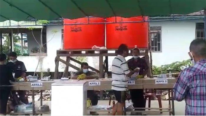 VIDEO: Suasana Pemungutan Suara Ulang di TPS 01 Pasar Pagi Putussibau Kapuas Hulu