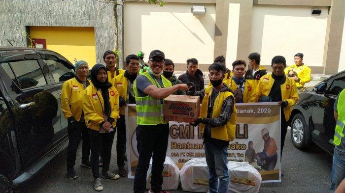 Masyarakat Ikut Terimbas Covid-19, PT CMI Salurkan Bantuan 2.160 Paket Sembako