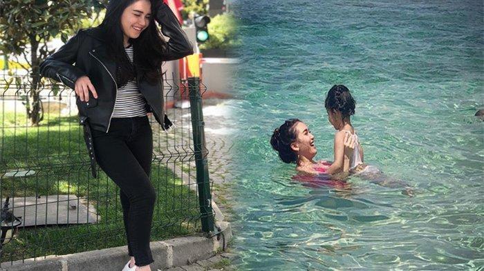 Pulang Dari Umroh, Ayu Ting Ting Kepergok Pakai Bra Seksi ke Pantai