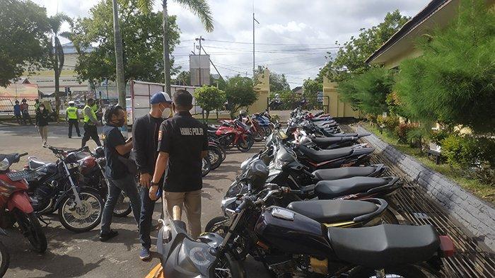 Polres Ketapang Jaring 59 Orang dan 45 Unit Sepeda Motor yang Diduga Terlibat Aksi Balap Liar