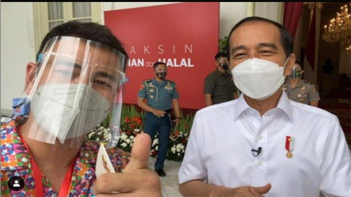 Raffi Ahmad Suntik Vaksin Covid-19 Bareng Presiden Jokowi, Rasakan Reaksi Pegal-pegal Usai 30 Menit