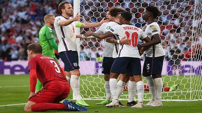 GOL SPEKTAKULER Denmark vs Inggris Semifinal Piala Eropa EURO, Sembilan Menit Dua Gol