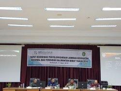 Optimalkan Kepesertaan Jaminan Kesehatan, Stakeholder Gelar Rapat Koordinasi se Kalbar