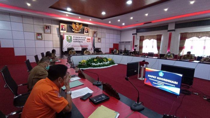 Kapolres Hadiri Rakor Penanganan Peningkatan Covid-19 Kabupaten Sanggau, Berikut Pembahasannya