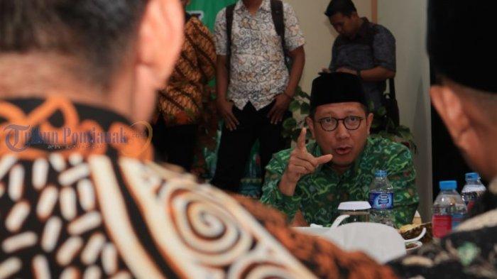 Menteri Agama Lukman Hakim Kunjungi Kanwil Kemenag Kalbar - ramah-tamah_20180731_164322.jpg