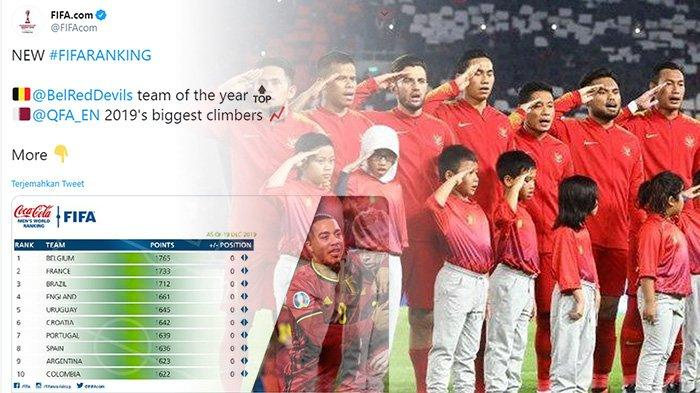 UPDATE Ranking FIFA Juli 2020 - Argentina, Jerman, Italia dan Spanyol di Bawah Kroasia, Indonesia?