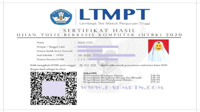Ranking UTBK SBMPTN 2021 Terbaru Hari Ini - Link Unduh Sertifikat UTBK 2021 & Panduan Lolos Seleksi