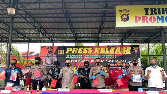 Kapolres Sanggau Pimpin Press Release Akhir Tahun 2020, Berikut Rincian Kasus di Polres Sanggau