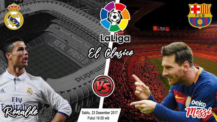 LIVE STREAMING Real Madrid vs Barcelona di SCTV - Kick Off 19.00 WIB, Tunjukkan Aksi Terbaik!