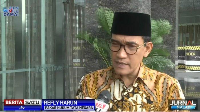 Refly Harun Sampaikan Pesan ke Jokowi Sebagai Presiden Terpilih: Tetap Kritis Boleh, Dukung Juga Sah