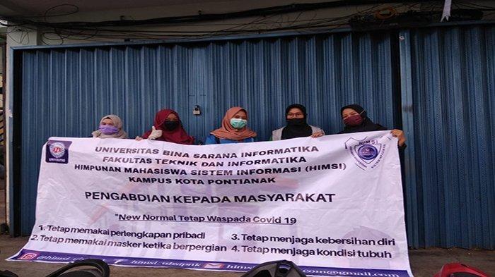 Bantu Pemerintah Terapkan Protokol New Normal, HIMSI Pontianak Gelar Pengabdian Masyarakat