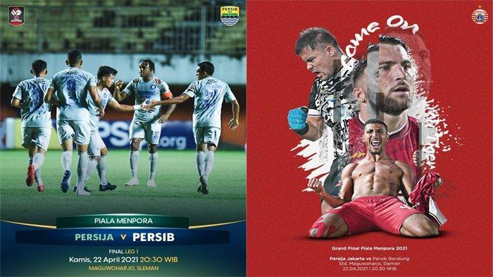 Streaming Indosiar Piala Menpora 2021 Final Persib Vs Persija Kamis 22 April 2021 Pukul 20.30 WIB