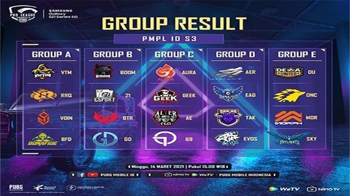 REKAP Hasil PMPL Season 3 Week 1, BOOM Esports di Puncak Klasemen PMPL dan Nasib Bigetron RA