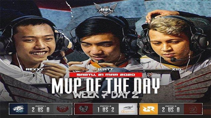 REKAP MPL Season 5 Minggu 7 - RRQ dan EVOS Hajar Bigetron di Klasemen MPL S5 Week 7