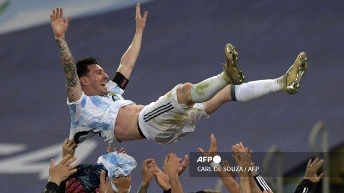 REKOR Lionel Messi di Hasil Final Copa America 2021 Live Indosiar Tadi Pagi Argentina Juara Conmebol