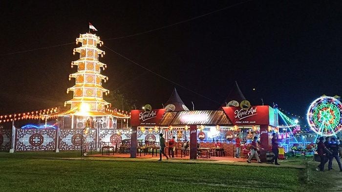 Megahnya Replika Pagoda Singkawang Imlek 2020, Catatkan Rekor Muri