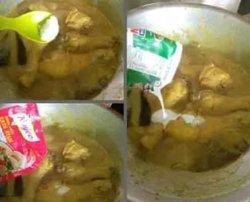 Resep Opor Ayam Kuning. Langkah 5 kemudian tambahkan sisa santan yang 1/2 pack, secukupnya garam dan royco. Aduk rata. Koreksi rasa. Jika sudah pas, masak sebentar sampai terlihat kuah mendidih sampai terus diaduk-aduk agar santan tidak pecah. Matikan kompor.