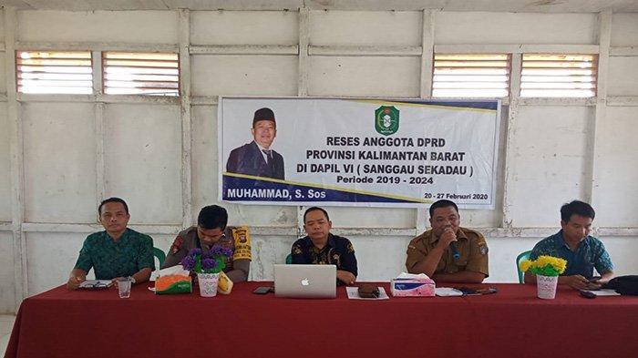 Bhabinkamtibmas dan Kades Setuntung Dukung Pelaksanaan Reses Anggota DPRD Kalbar
