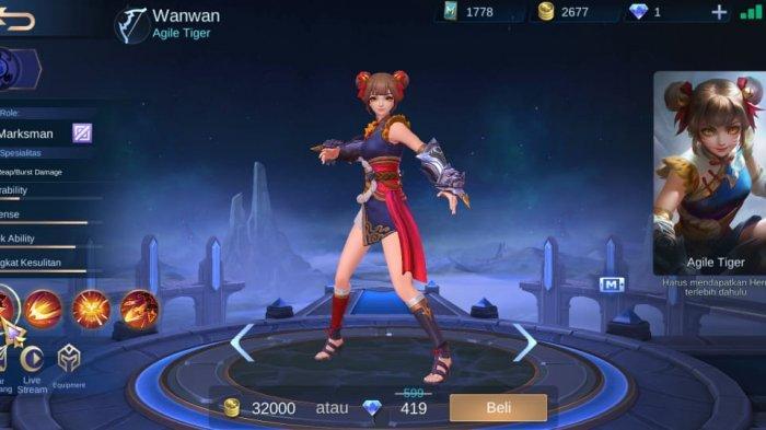 Resmi Dirilis! Wanwan Hero Baru Mobile Legends, Marksman Lincah Tanpa Cooldown di Land of Dawn