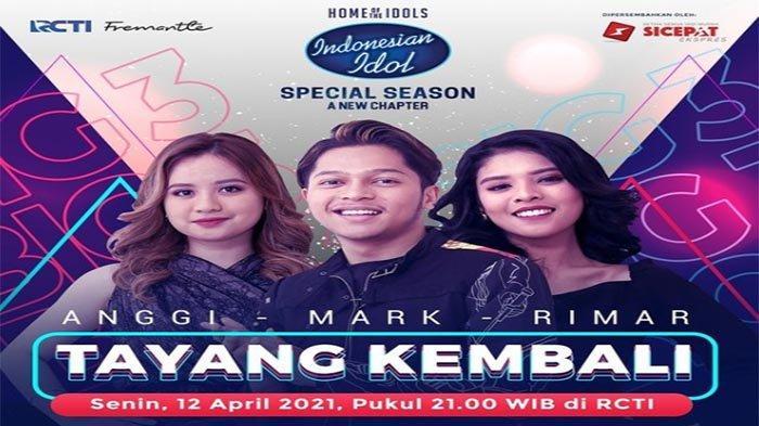 RESMI Indonesian Idol 2021 Top 3 Libur Malam Ini Senin 5 April 2021, Nonton Spektakuler Show 11 RCTI