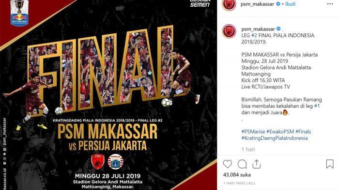 Reaksi PSM Makassar Setelah Laga PSM Vs Persija Jakarta Final Piala Indonesia Leg 2 Ditunda PSSI