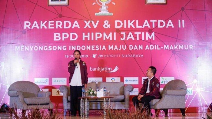 Hadiri Rakerda HIPMI Jatim, Menteri Rini Beberkan Kontribusi BUMN Bangun Infrastruktur