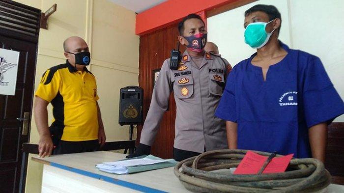 Ditangkap Polisi, Ini Pengakuan Tersangka Pencurian Kabel PJU di Jalan  A Yani Pontianak