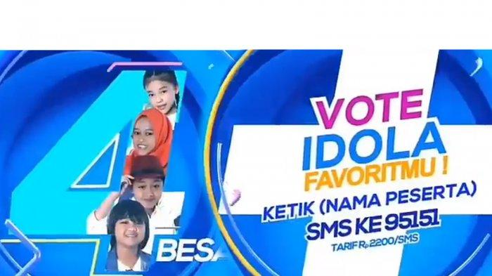 Road to Grand Final Indonesian Idol Junior di RCTI, Yuk Vote Idolamu: Anneth, Gogo, Raisya dan Deven