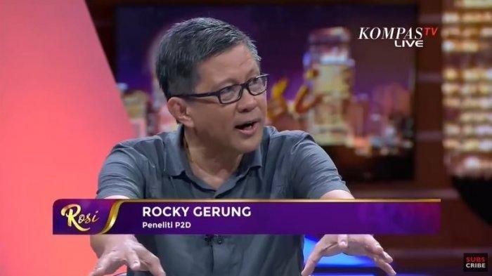 Rocky Gerung Nilai Peralatan JokowiTak Bisa DipakaiUlang Risma Kalahkan Anies baswedan