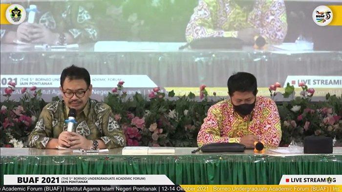 Rektor UIN Antasari Banjarmasin Berbagi Tips Menulis kepada Peserta BUAF