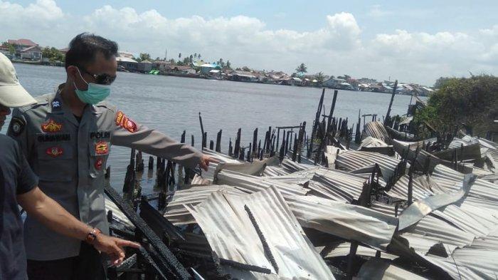 Rumah Singgah Nelayan Hangus Terbakar, Polisi Ceritakan Kronologis Kejadian