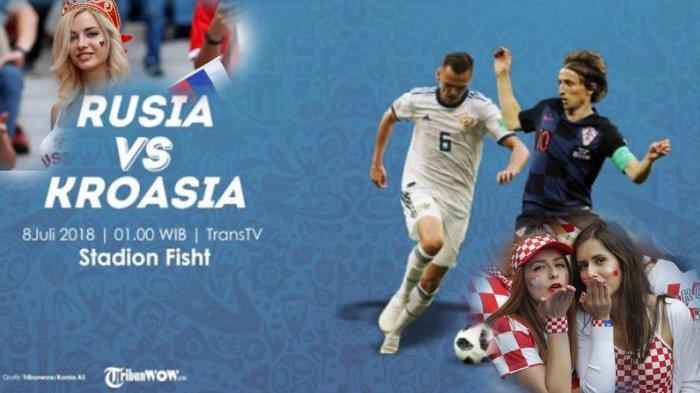 LIVE PIALA DUNIA Rusia vs Kroasia di Trans TV, Cara Nonton Live Streaming