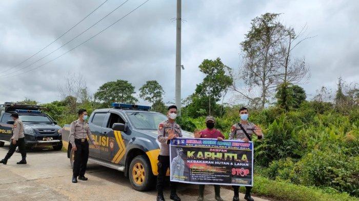 Personel Polres Kubu Raya Rutin Laksanakan Patroli dalam Rangka Ops Bina Karuna II Kapuas 2021