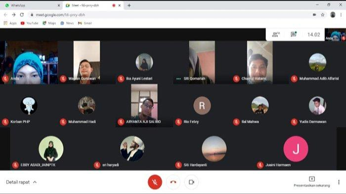 Forum Kosya Menulis Komisariat Syariah Cabang Pontianak Gelar Pelatihan Teknik Wawancara Virtual