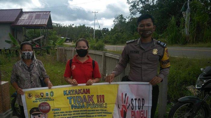 Sambangi Desa Binaan, Brigadir Henri Kampanyekan Stop Pungli Pada Warga