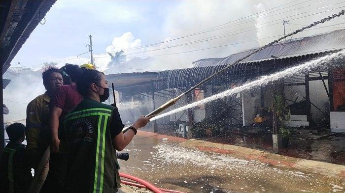 KRONOLOGI Peristiwa Kebakaran Lima Unit Asrama Polisi Polresta Pontianak