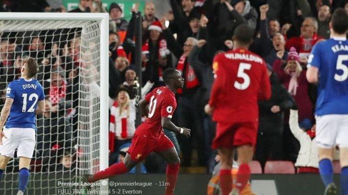 Cuplikan Gol Liverpool vs Everton, Sadio Mane Man of The Match