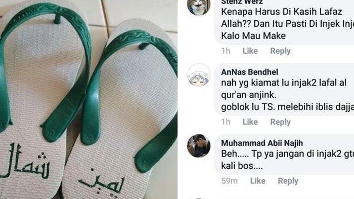 Viral Lafaz Arab di Sandal Jepit, Jangan Buru-buru Bilang Penistaan, Ini Arti Sebenarnya