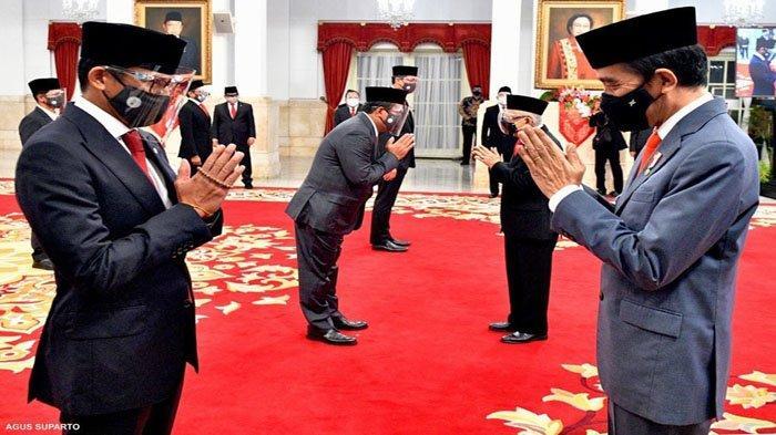 Inilah Nama-nama Menteri Kabinet Indonesia Maju Setelah Reshuffle Kabinet! Jokowi Ganti 6 Menteri