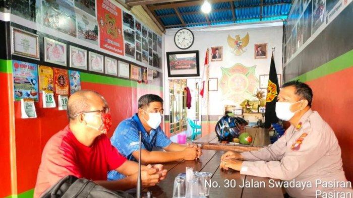 Kasat Binmas Polres Singkawang Silaturahmi ke Tokoh Masyarakat dan Pemadam Kebakaran BPKS Siaga